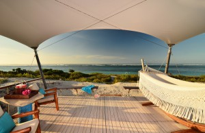 Luxury Tent Deck Sunset